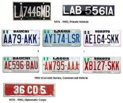 vehicle numbers