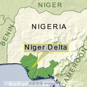 africa map niger delta