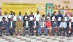 Cross section of the graduating power plant engineers and officials of the SPDC at the close-out ceremony in Oyigbo, Rivers State… on Monday